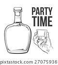 bottle vector hold 27075936