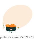 sushi, caviar, cartoon 27076523