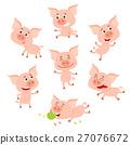 pig, funny, cartoon 27076672