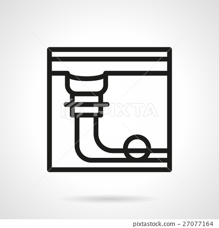 Pool table pocket simple black line vector icon 27077164