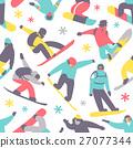 vector, snowboard, seamless 27077344