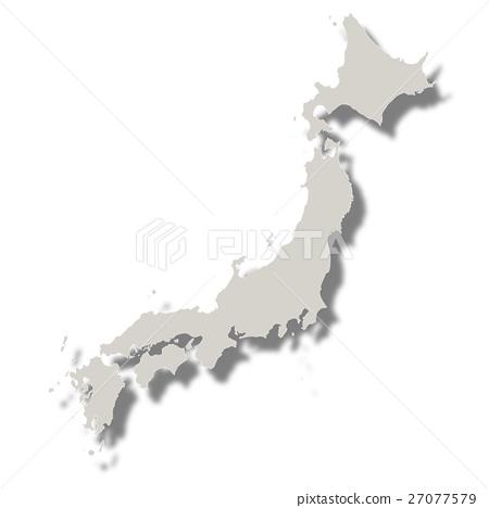 Japan Map Icon White - Stock Illustration [27077579] - PIXTA
