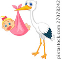 stork, baby, born 27078242