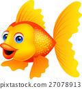 Cute golden fish cartoon 27078913