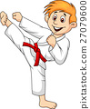Boy playing karate 27079600
