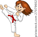 girl, cartoon, karate 27079602