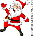 Happy Santa cartoon waving hand 27079604