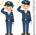 police, officer, salute 27080162