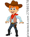 Funny cartoon cowboy 27080378