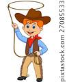 Cowboy kid twirling a lasso 27085533