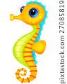 Cute sea horse cartoon 27085819