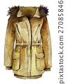 watercolor sketch of parka on a white background 27085846
