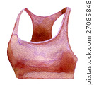 watercolor sketch of sport bra on white background 27085848