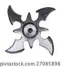 watercolor sketch of shuriken on white background 27085898