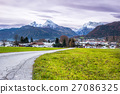 houses, mountain, road 27086325