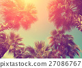 Vintage frame with tropic palm trees 27086767