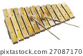 watercolor sketch of xylophone on white background 27087170