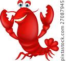 卡通 龙虾 小龙虾 27087945