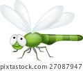 Cute dragonfly cartoon 27087947
