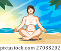 woman practicing yoga 27088292