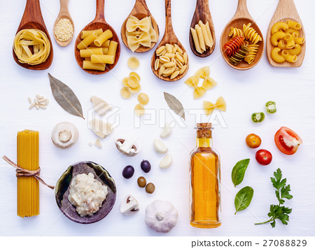 Italian food concept .Various kind of pasta  27088829