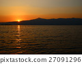 lake biwa, evening scene, sunset 27091296