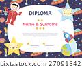 Diploma Cartoon Vector Template 27091842