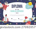 Diploma Cartoon Vector Template 27092057