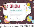 Diploma Cartoon Vector Template 27092318