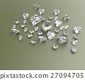 Background with red gemstones. 3D illustration 27094705