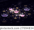 Abstract fractal field of flowers 27094834