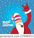 vector biker santa claus with smoking pipe. 27096453