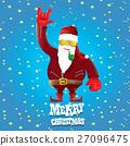 vector biker santa claus with smoking pipe. 27096475