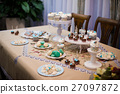 Delicious cupcake on table at childrens's birthday 27097872