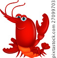 cartoon lobster shrimp 27099703