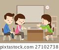 family talking with teacher 27102738