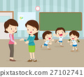 mother talking young teacher 27102741