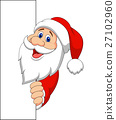 Santa clause with blank sign 27102960
