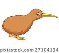 Cute kiwi bird cartoon 27104134