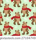 pattern, vector, bear 27104749