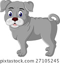 cute bulldog cartoon 27105245