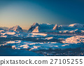 Snow-capped mountains in Antarctica 27105255