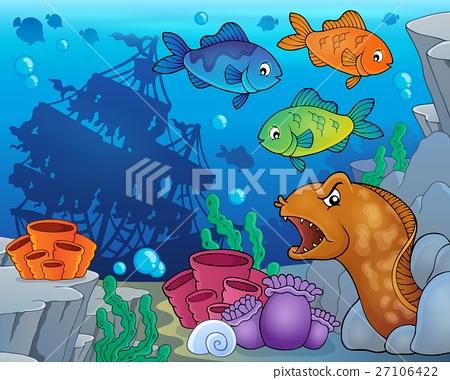Underwater ocean fauna theme 9 27106422