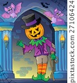 Wall alcove with Halloween figure 27106424