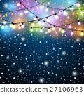 light, background, snow 27106963