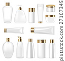 Set Cosmetic Plastic Bottle and Tube Isolated on 27107345