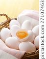 蛋 蛋黃 生雞蛋 27107463