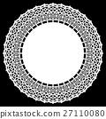 Lace, circle, doily 27110080