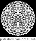 Lace, circle, doily 27110146