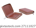 Wallet leather brown 27111027